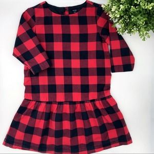 BABY GAP Buffalo Check Plaid Drop Waist Dress 4